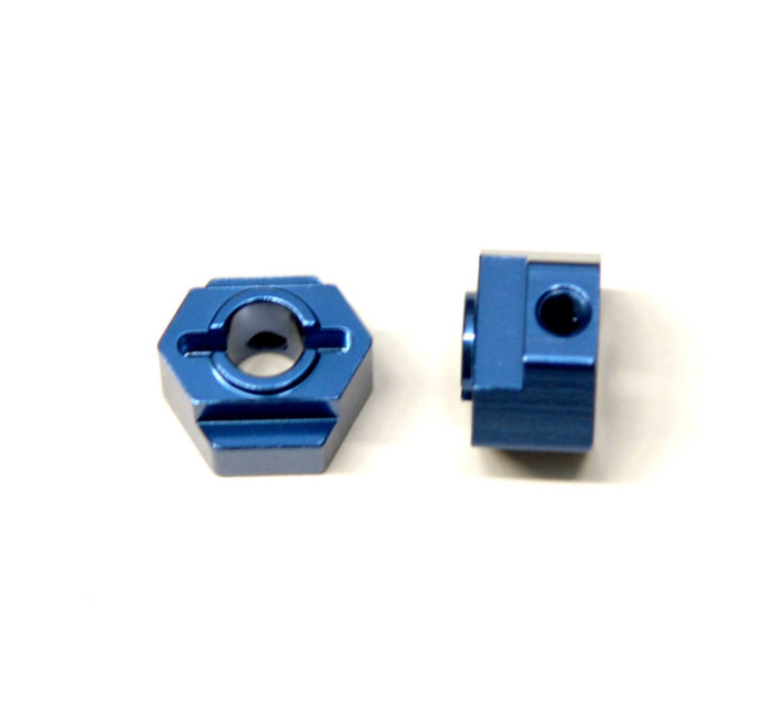ST Racing CNC Machined Aluminum Rear Hex Adapters for Associated DR10 - Blue, STC91418B