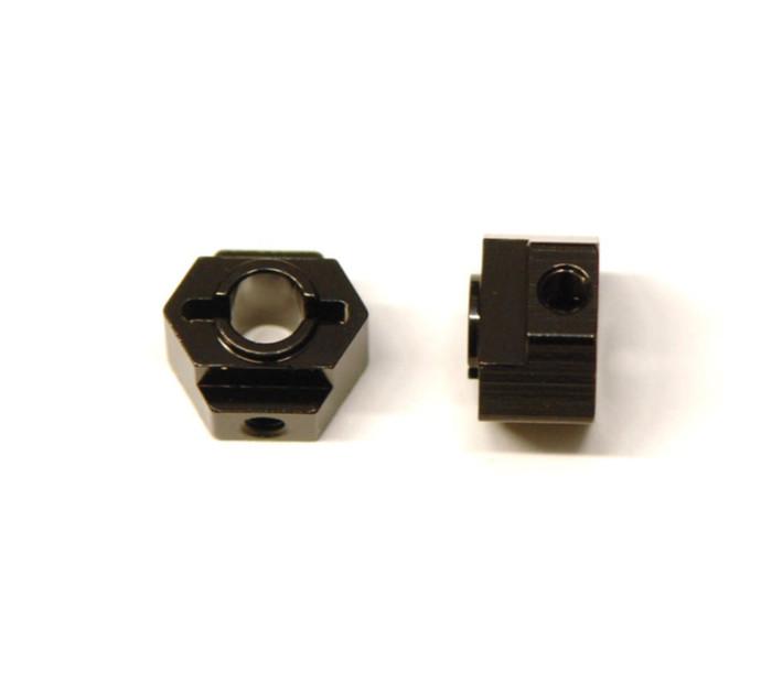 ST Racing CNC Machined Aluminum Rear Hex Adapters for Associated DR10 - Black, STC91418BK