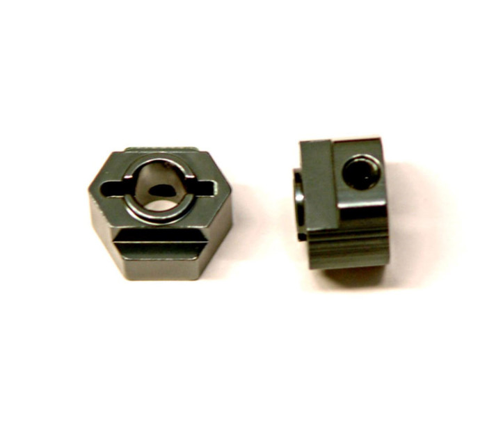 ST Racing CNC Machined Aluminum Rear Hex Adapters for Associated DR10 - Gun Metal, STC91418GM