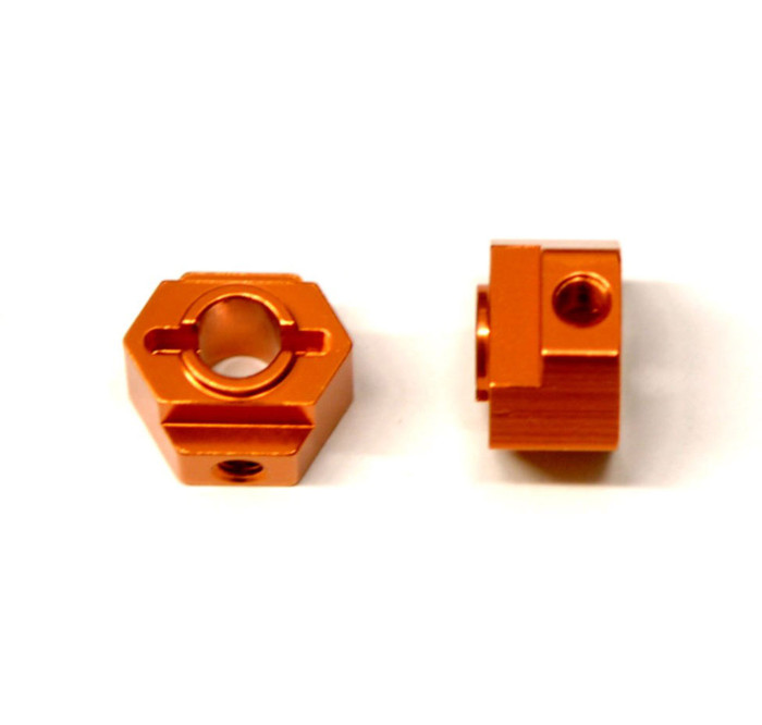 ST Racing CNC Machined Aluminum Rear Hex Adapters for Associated DR10 - Orange, STC91418O