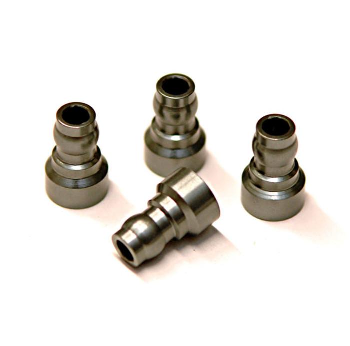 ST Racing CNC Machined Aluminum Upper Shock Mount Bushing for Associated DR10 - Gun Metal, 91444GM
