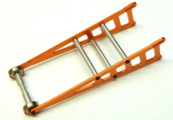 ST Racing CNC Machined Aluminum Drag Wheelie Bar Kit for 2WD Slash/Rustler/Bandit - Orange, ST3678WO