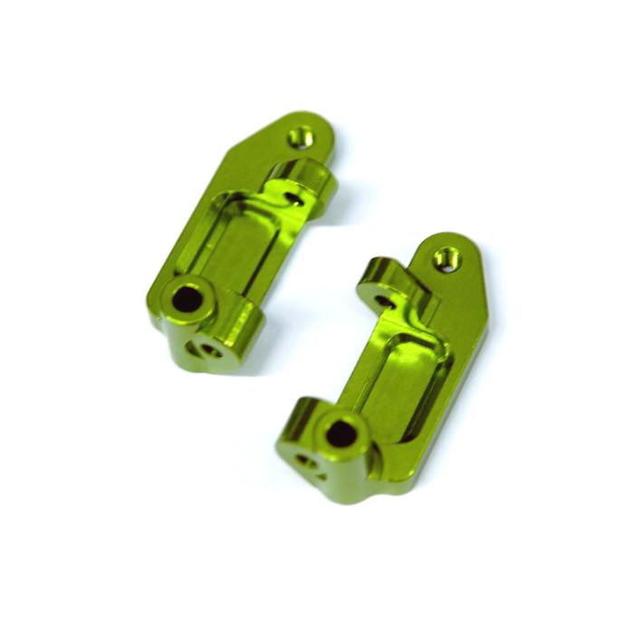 ST Racing Concepts Aluminum Caster Blocks for Drag Slash/2WD Bandit (Green), 2432G