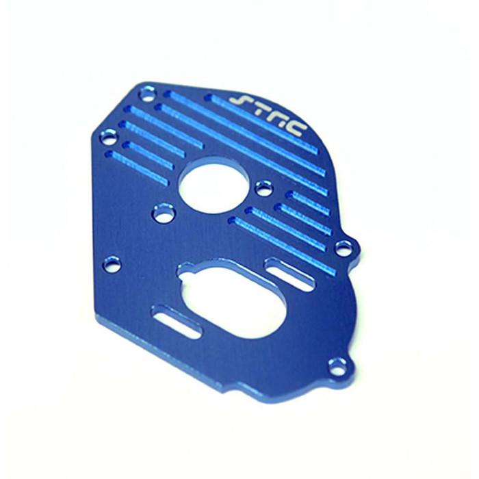 ST Racing Concepts Aluminum Heat-Sink Finned Motor Plate for Traxxas Drag Slash (Blue), 9490B
