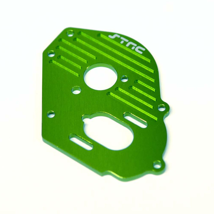 ST Racing Concepts Aluminum Heat-Sink Finned Motor Plate for Traxxas Drag Slash (Green), 9490G