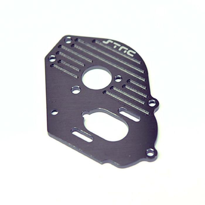 ST Racing Concepts Aluminum Heat-Sink Finned Motor Plate for Traxxas Drag Slash (Gun Metal), 9490GM