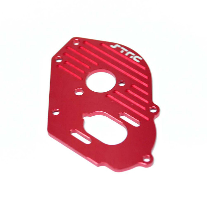 ST Racing Concepts Aluminum Heat-Sink Finned Motor Plate for Traxxas Drag Slash (Red), 9490R