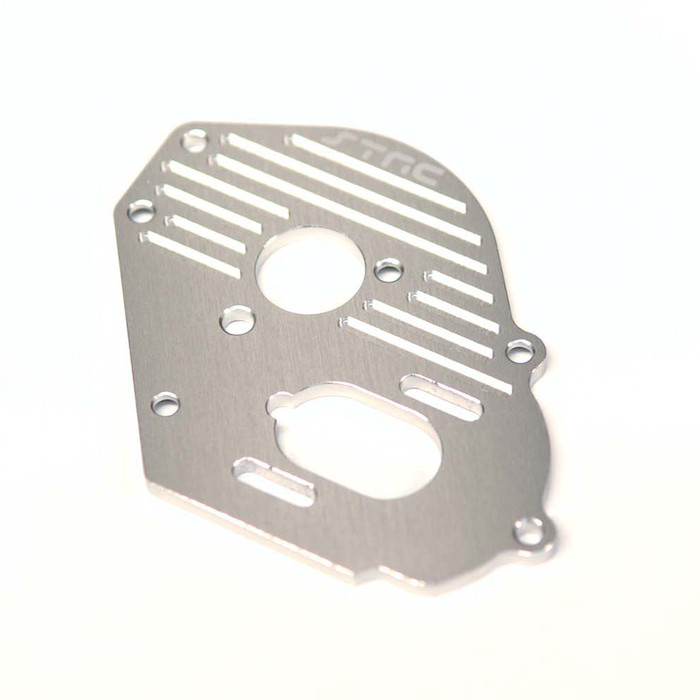 ST Racing Concepts Aluminum Heat-Sink Finned Motor Plate for Traxxas Drag Slash (Silver), 9490S