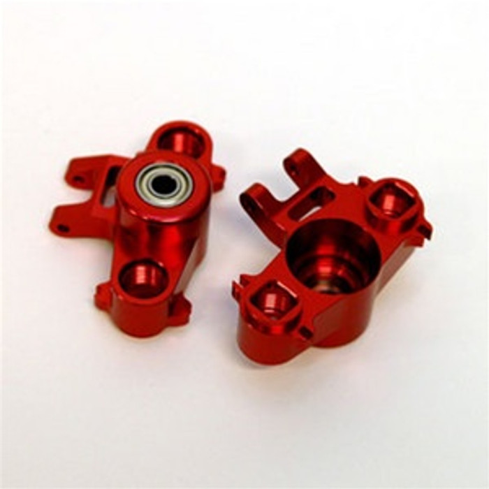 ST Racing Concepts CNC Machined Aluminum HD Steering Knuckles w/larger 6x15 bearings (Red), 5334R