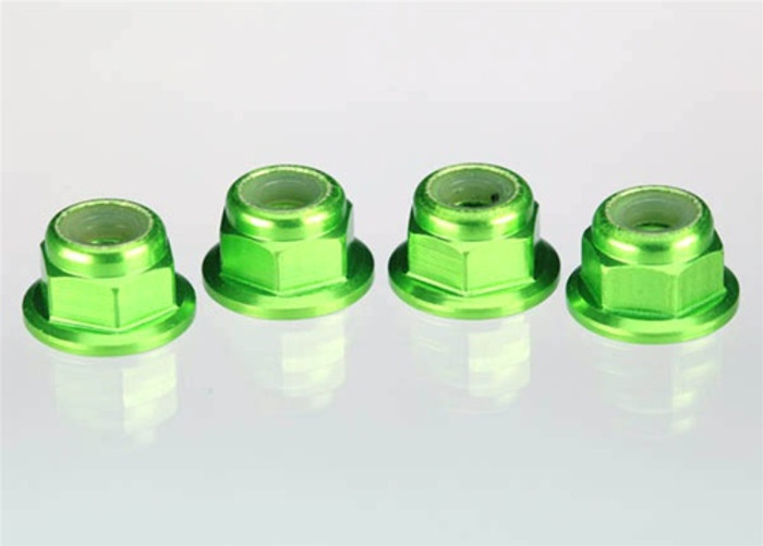 Traxxas Aluminum Nuts (4mm, Green Anodized), 1747G