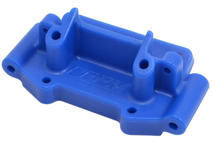 RPM Front Bulkhead for Most Traxxas 1/10 2WD Vehicles - Blue, 73755