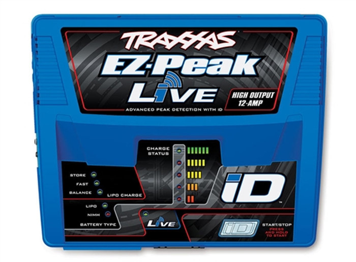 Traxxas EZ-Peak Live 12-Amp NiMH/LiPo Charger with iD Tech, 2971
