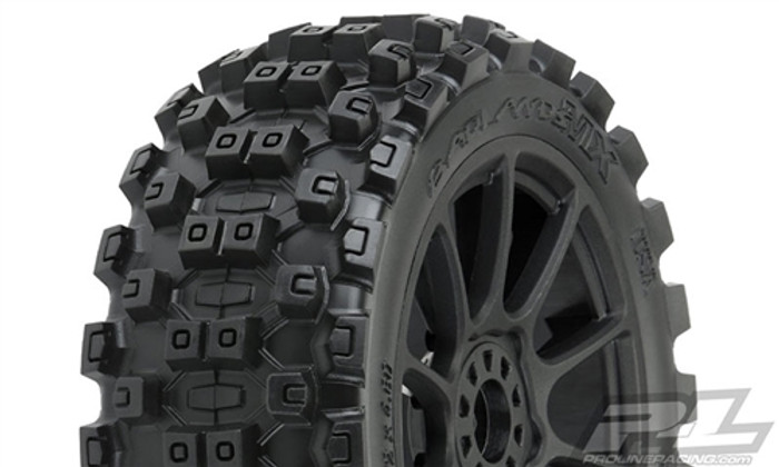 Pro-Line Badlands MX M2 Medium All Terrain 1/8 Buggy Tires on Mach 10 Wheels, 9067-21