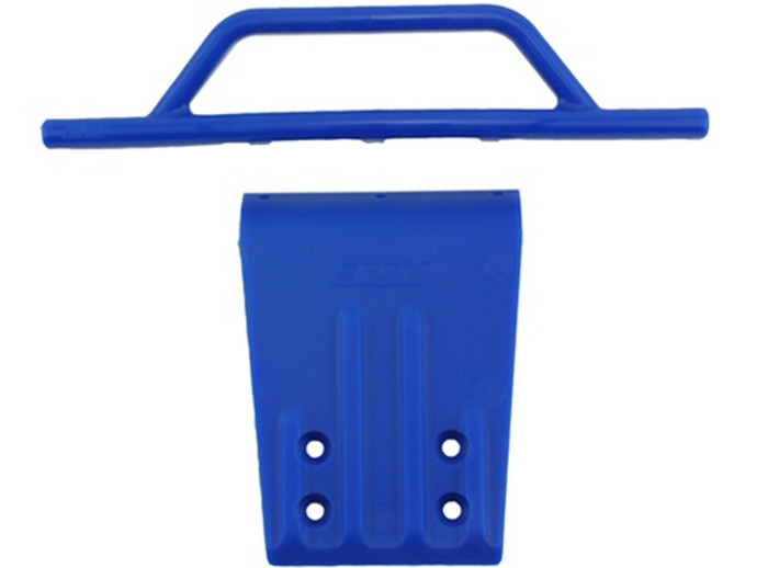 RPM Front Bumper and Skid Plate for Traxxas Slash 2WD - Blue, 80955