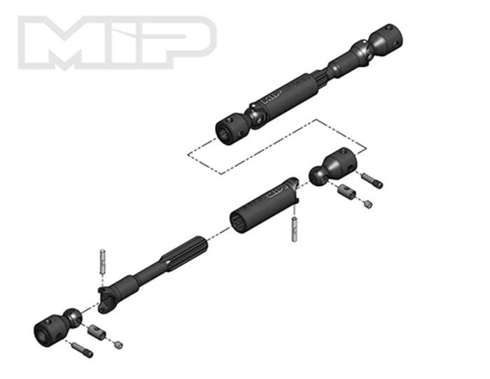 MIP Heavy Duty Driveline Kit for Traxxas TRX-4 Ford Bronco, 18250