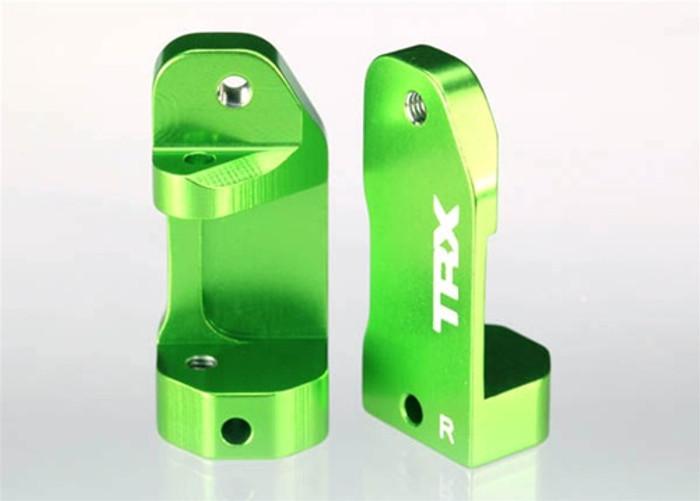 Traxxas Caster Blocks 30-degree Green Anodized, 3632G