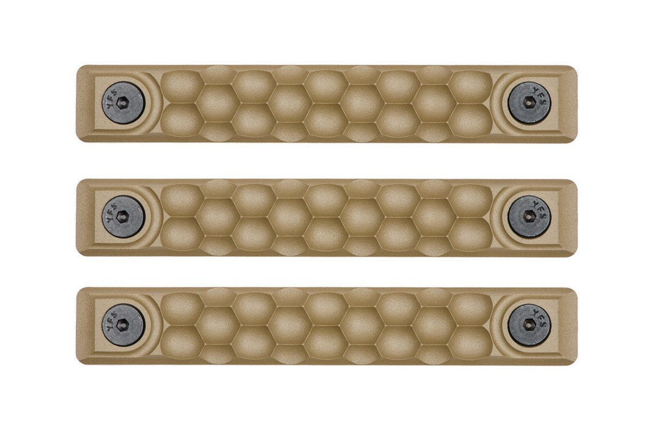 RailScales HTP M-LOK Scales - 3 Pack / Honeycomb / FDE