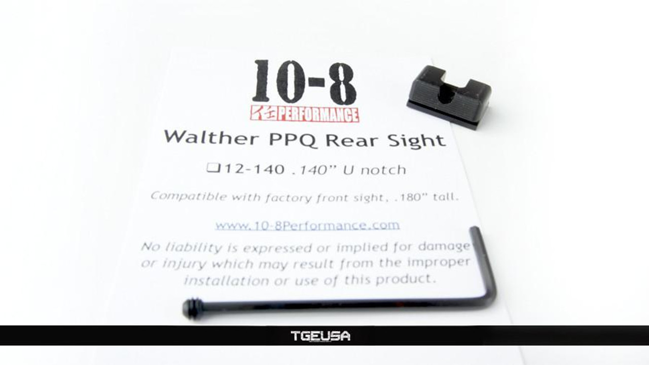 10-8 Performance Walther PPQ Rear Sight