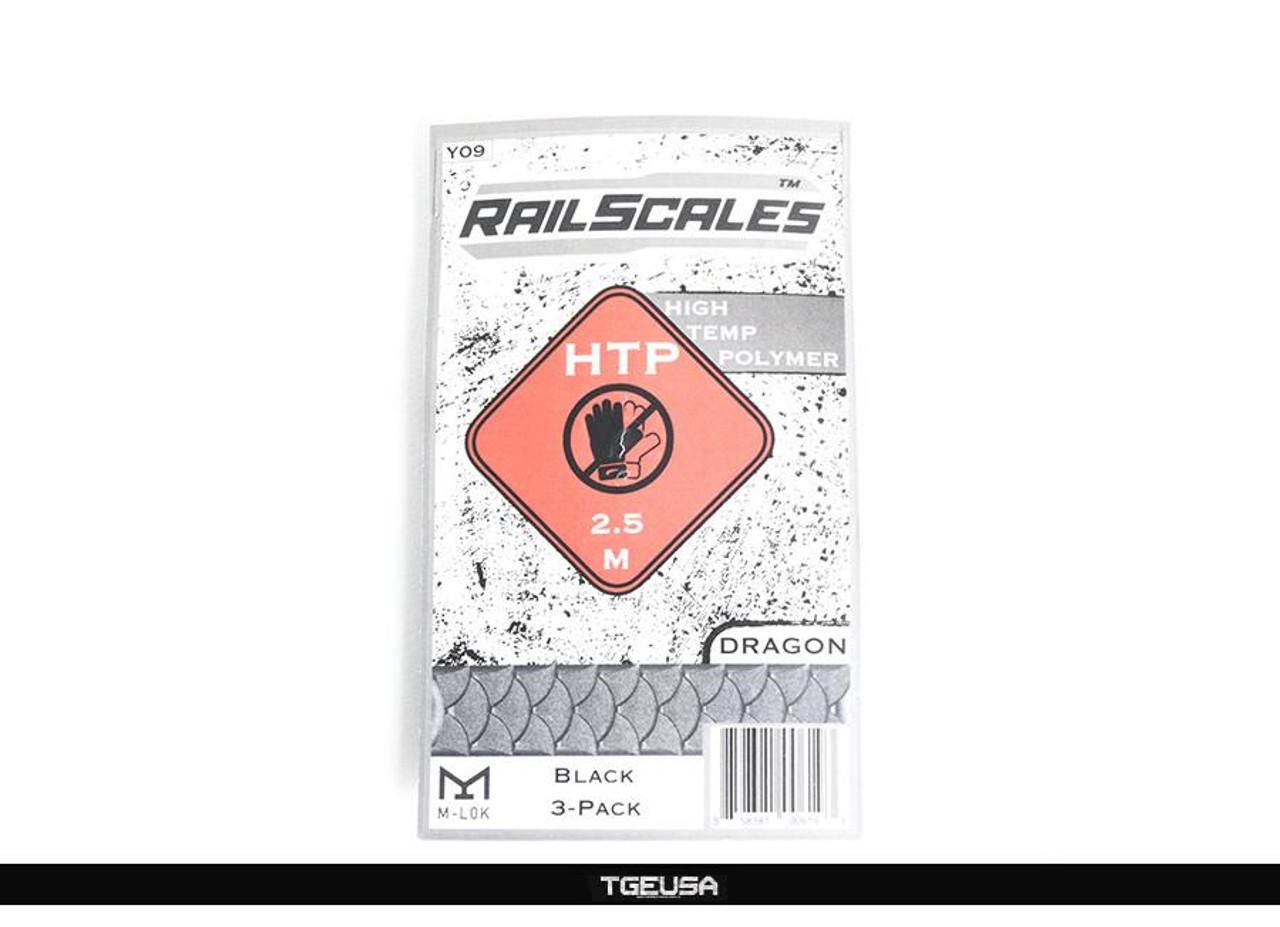 RailScales HTP M-LOK Scales - 3 Pack / Dragon / Black