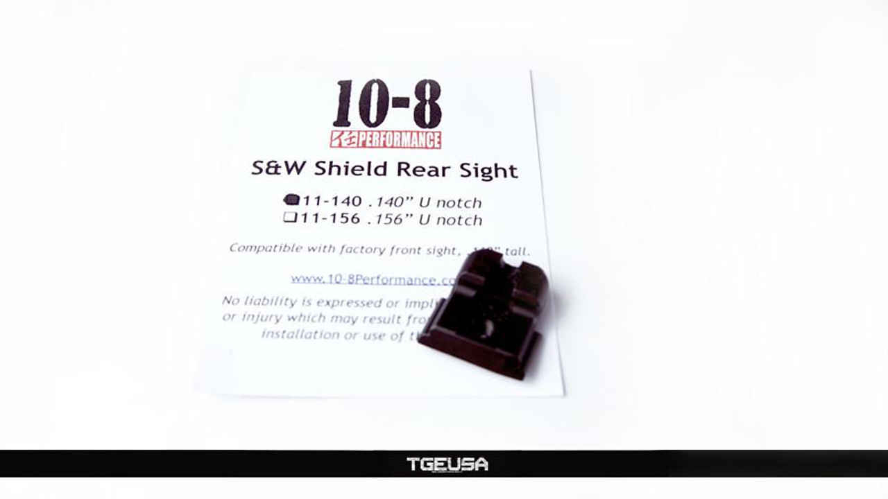 "10-8 Performance M&P Shield Rear Sight - .140"" U-Notch"