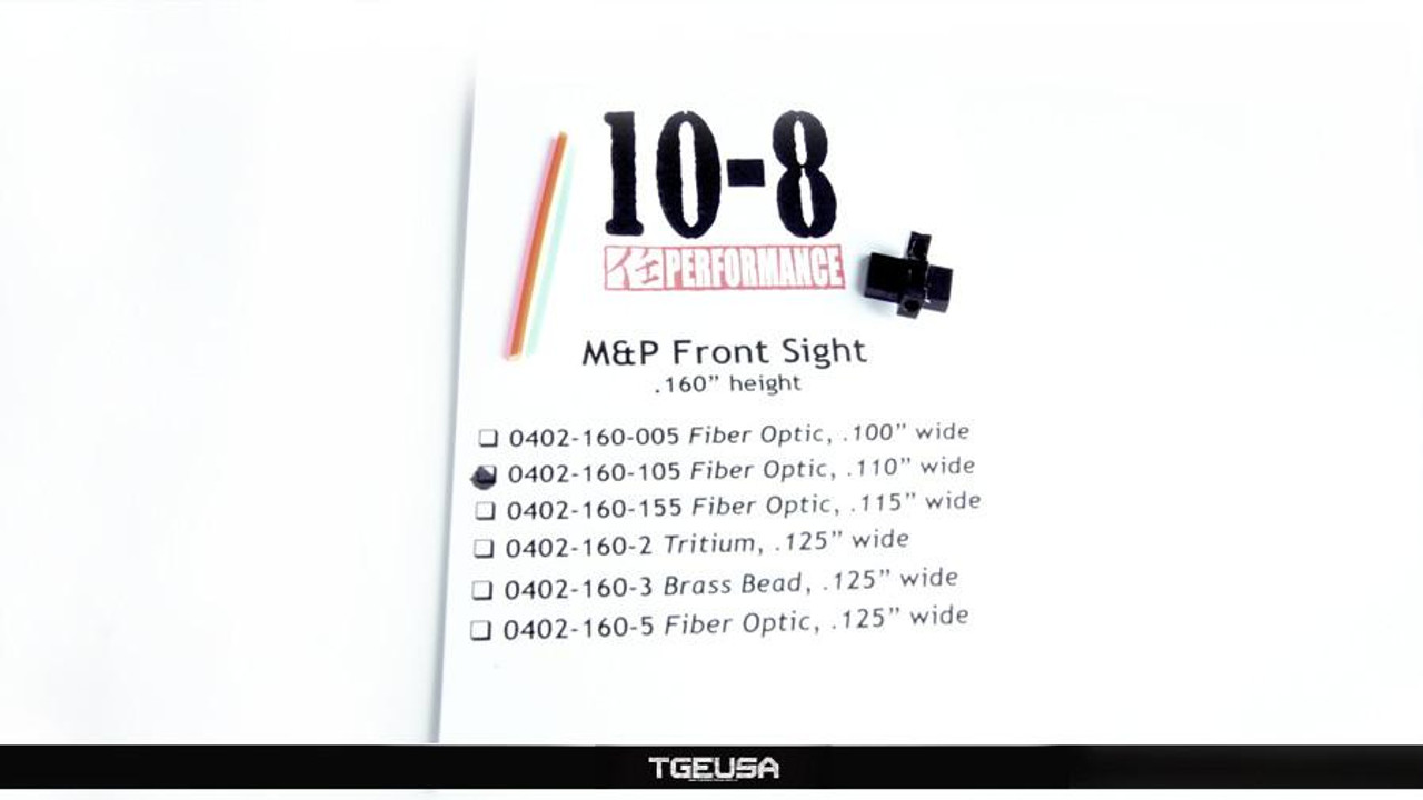 10-8 Performance M&P / Shield FIber Optic Front Sight (.160 Height / .110 Wide)