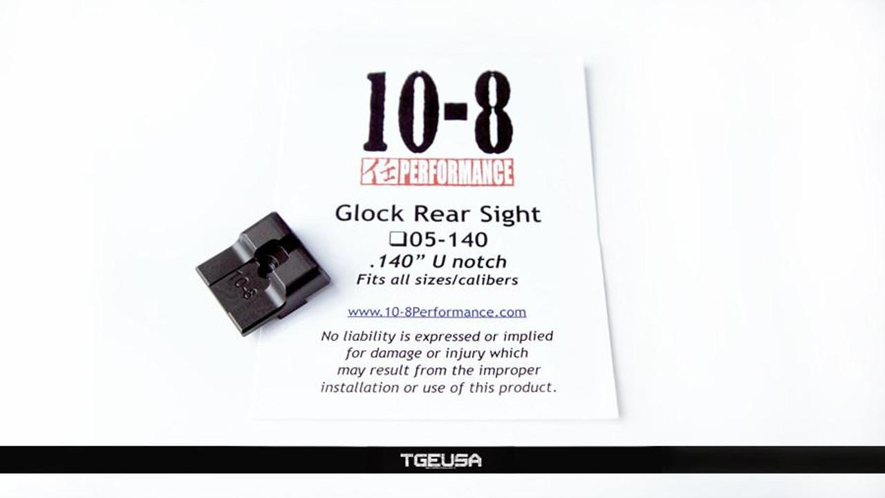 "10-8 Performance Glock Rear Sight - .140"" U-Notch"