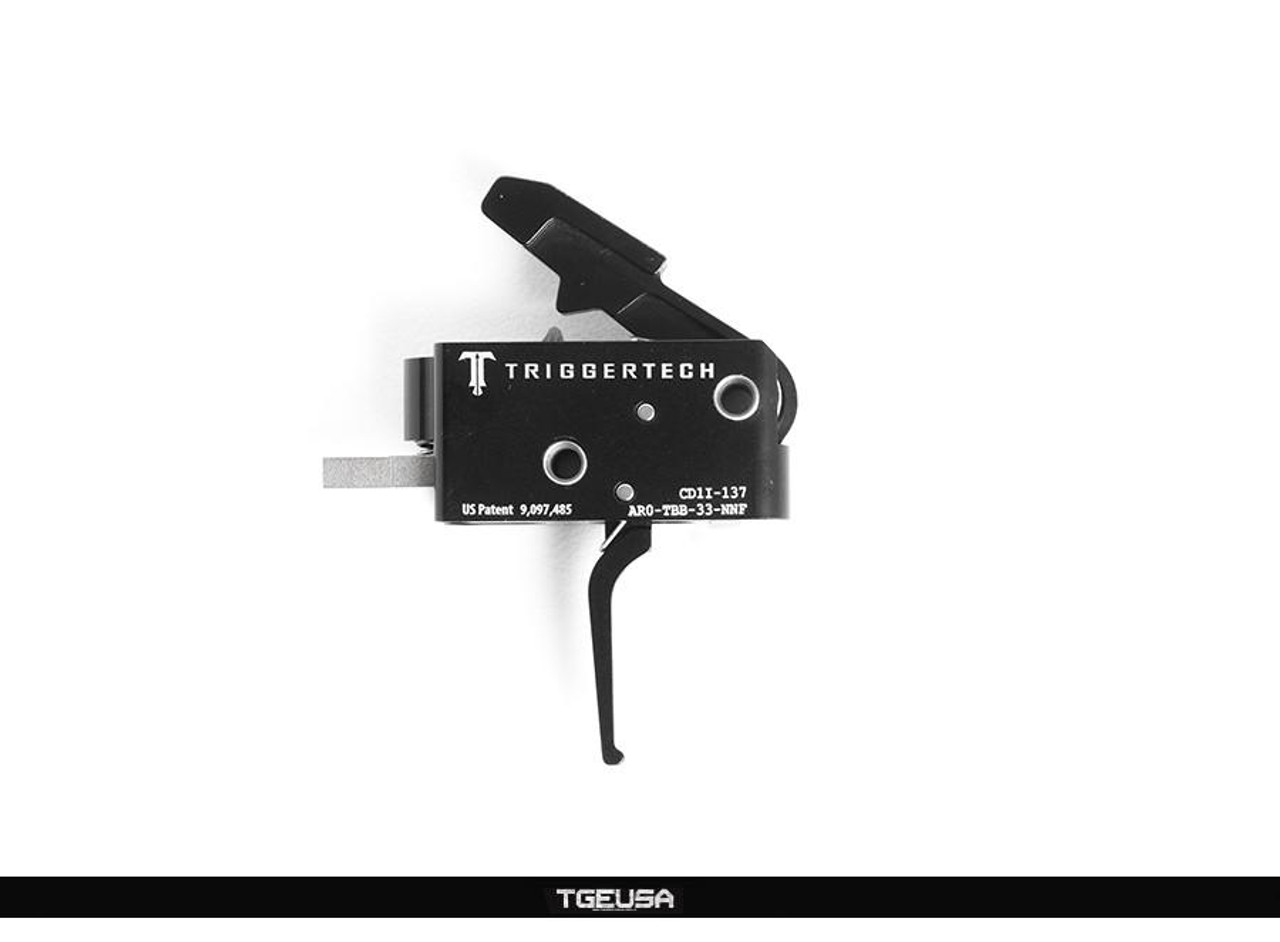 TriggerTech Competitive AR Primary Trigger - 3.5 LB / Flat / Black PVD