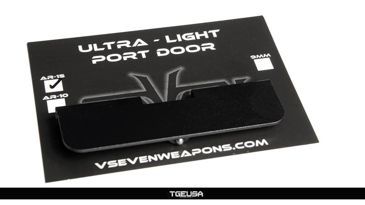 V SEVEN AR15 Ultra Light Port Door - Classic / Black