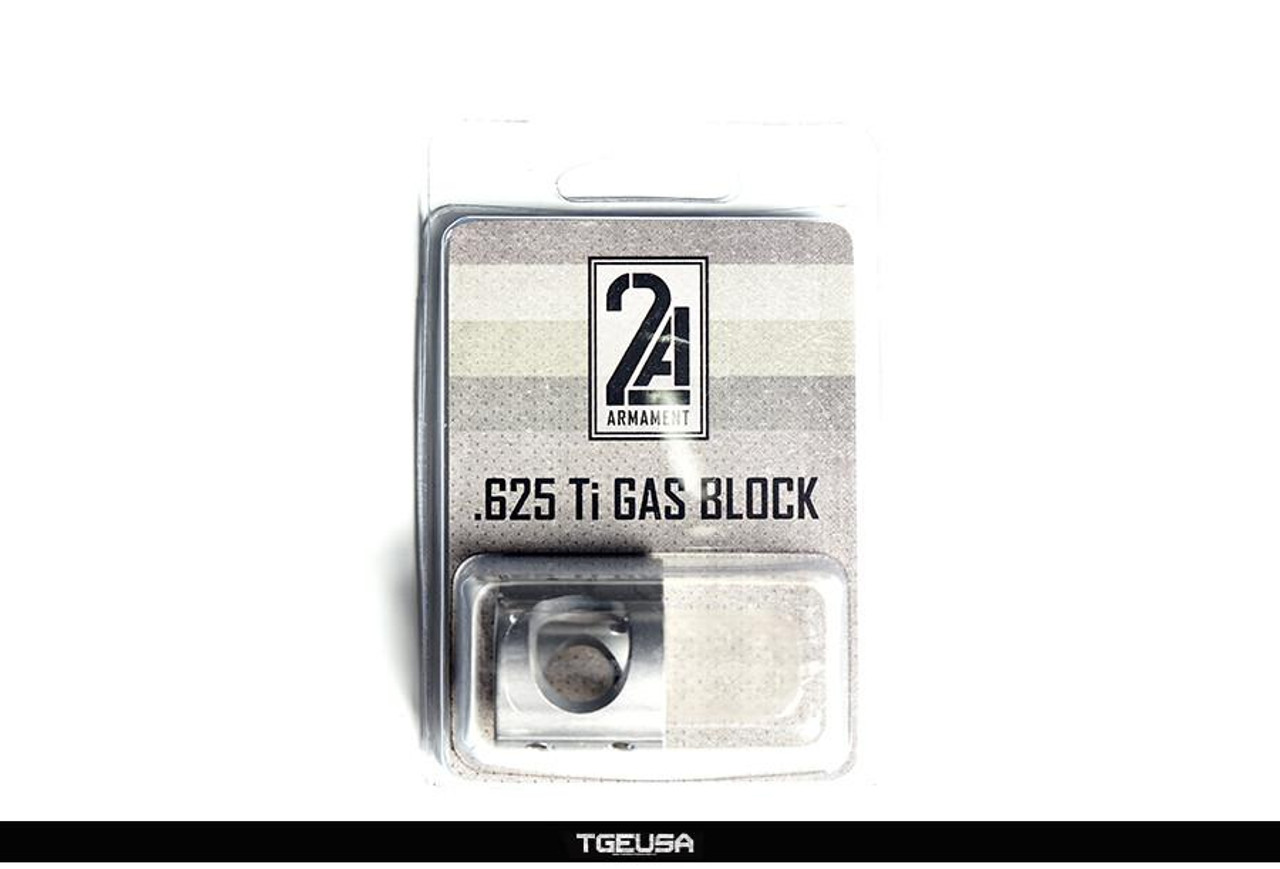 "2A Armament Ti Gas Block - AR .625"" Diameter"