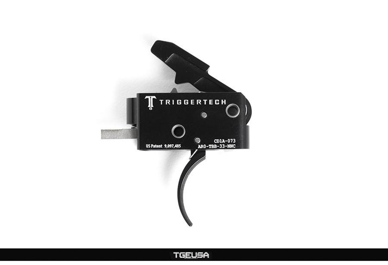 TriggerTech Competitive AR Primary Trigger - 3.5 LB / Curved / Black PVD