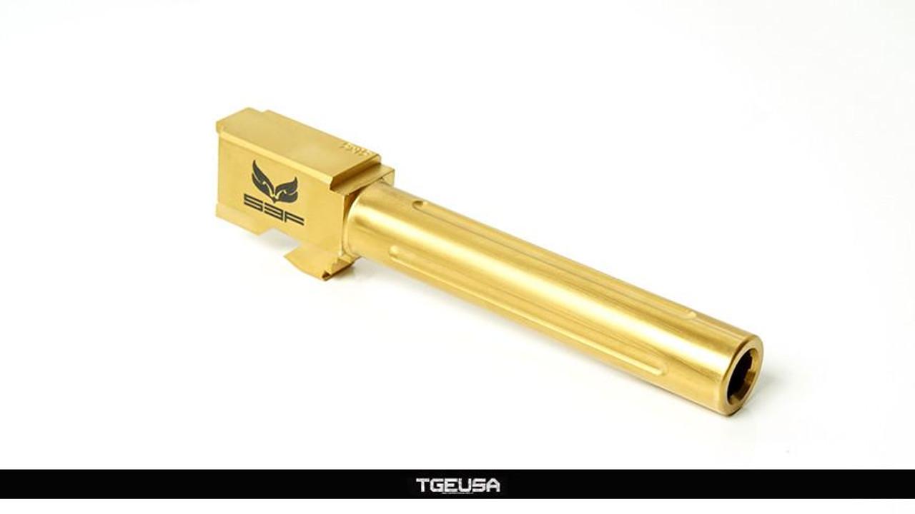 S3FSolutions Glock 17 Match Grade Barrel - Ti Nitride (GOLD) / FLUTED