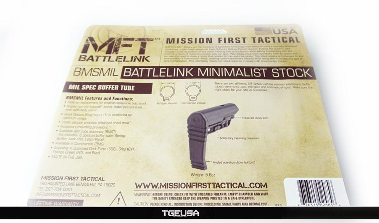 Mission First Tactical - Battlelink Minimalist Stock (Mil-Spec / Black)
