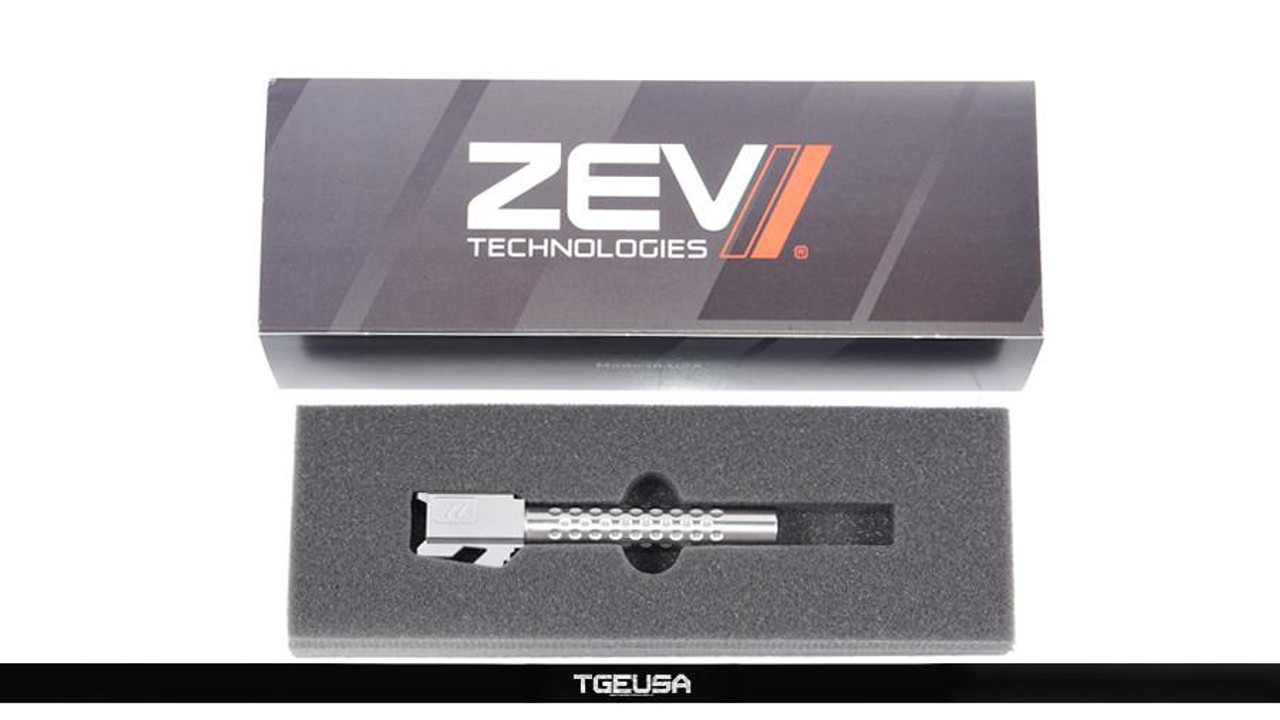 Zev Technologies Match Barrel - Glock 17 / G17 ( Dimpled / Stainless )