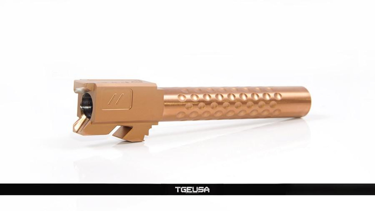 Zev Technologies Match Barrel - Glock 17 / G17 ( Dimpled / Burnt Bronze )