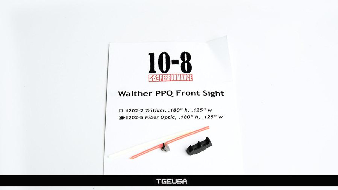 10-8 Performance Walther PPQ Front Sight - Fiber Optic