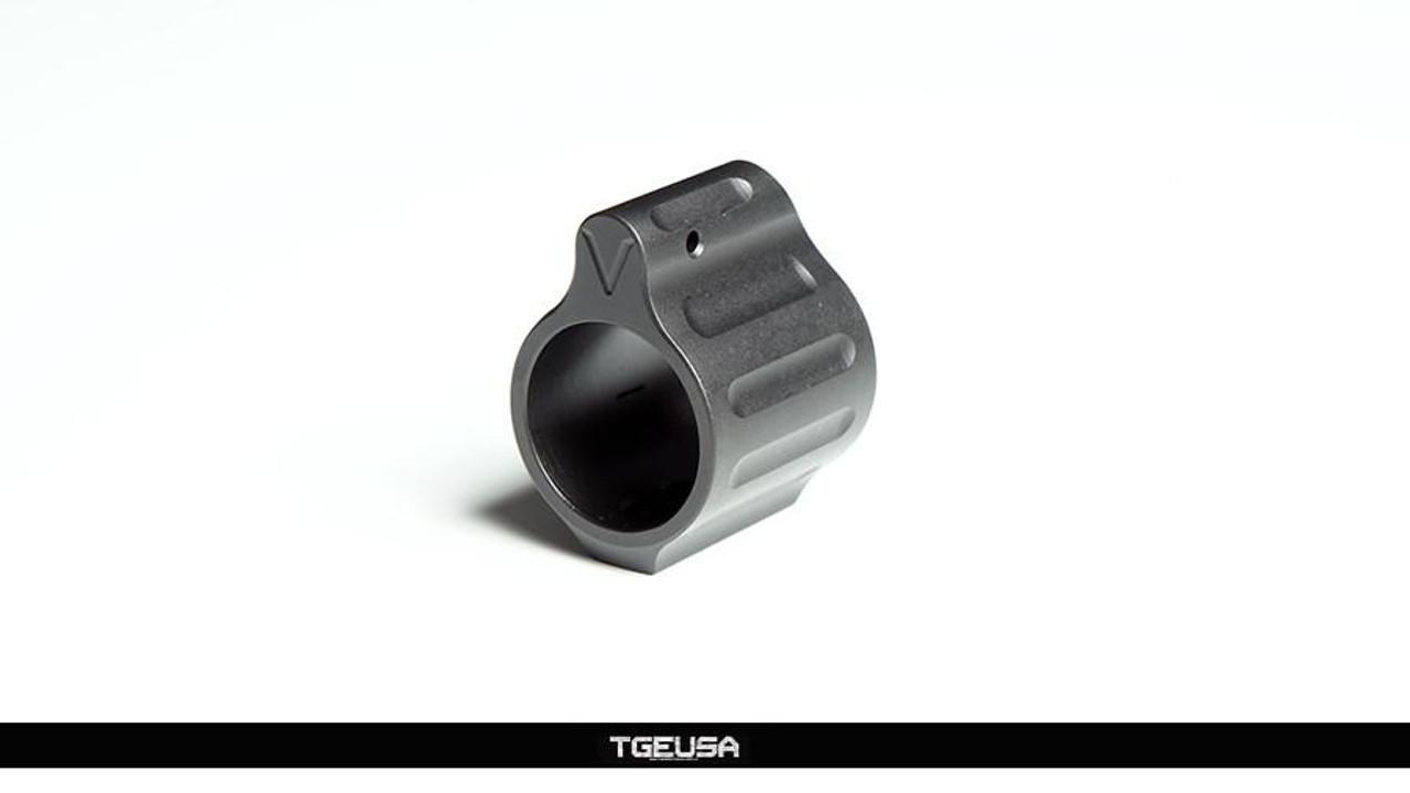 "V SEVEN Titanium Gas Block - Ion Bond Black / .750"""