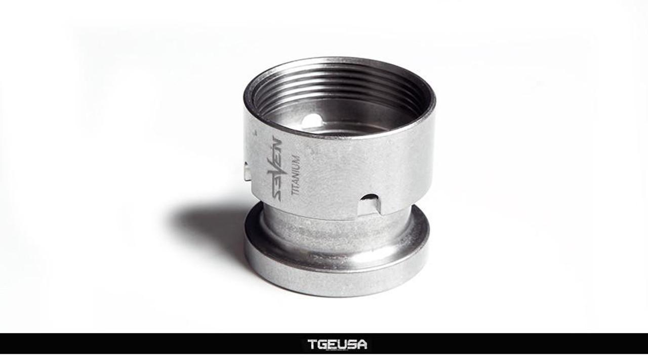 V SEVEN Titanium KMR Barrel Nut & Clamp Block Set - Raw Ti