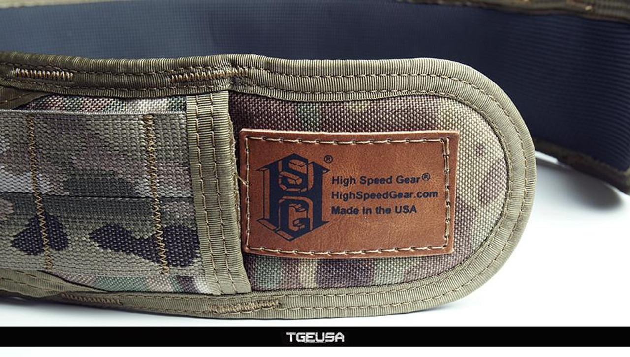 "HSGI Slim Grip Padded Belt - Large  41.5"" (Multicam)"