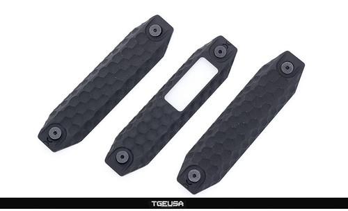 Railscales XOS/XOS-H Type 1 (3 Piece Set) - Honeycomb / Long 3-Slot / M-LOK