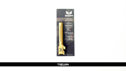 S3FSolutions Glock 17 Match Grade Barrel - Ti Nitride (GOLD) / FLUTED