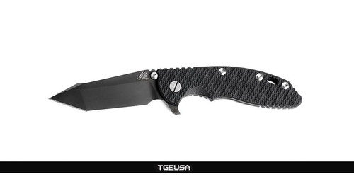 "Hinderer Knives XM-18 3.5"" Fatty Harpoon Tanto - Black DLC / Black G10"