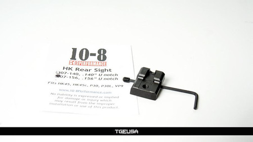 "10-8 Performance - H&K Rear Sight (.156"" Width U-Notch)"