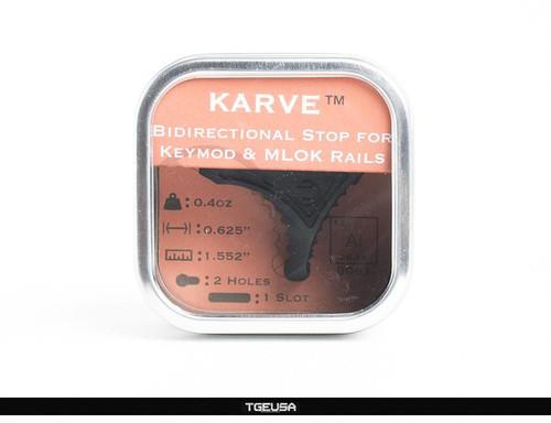 RailScales Karve Handstop - Carbon Black (M-LOK and Keymod)
