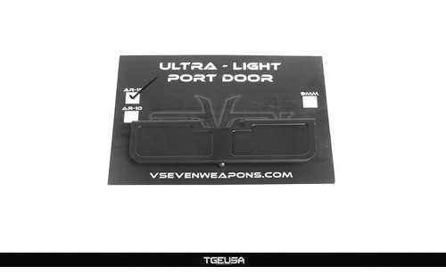 V SEVEN AR15 Ultra Light Port Door - Designer / Black