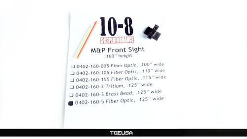 10-8 Performance M&P / Shield FIber Optic Front Sight (.160 Height / .125 Wide)