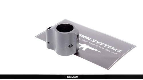 V SEVEN Pin On Titanium Gas Block  - .625 / Black