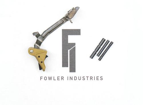 Fowler Industries Gen 2 ZERO Trigger - Glock Gen 3/4 - TiN/Black