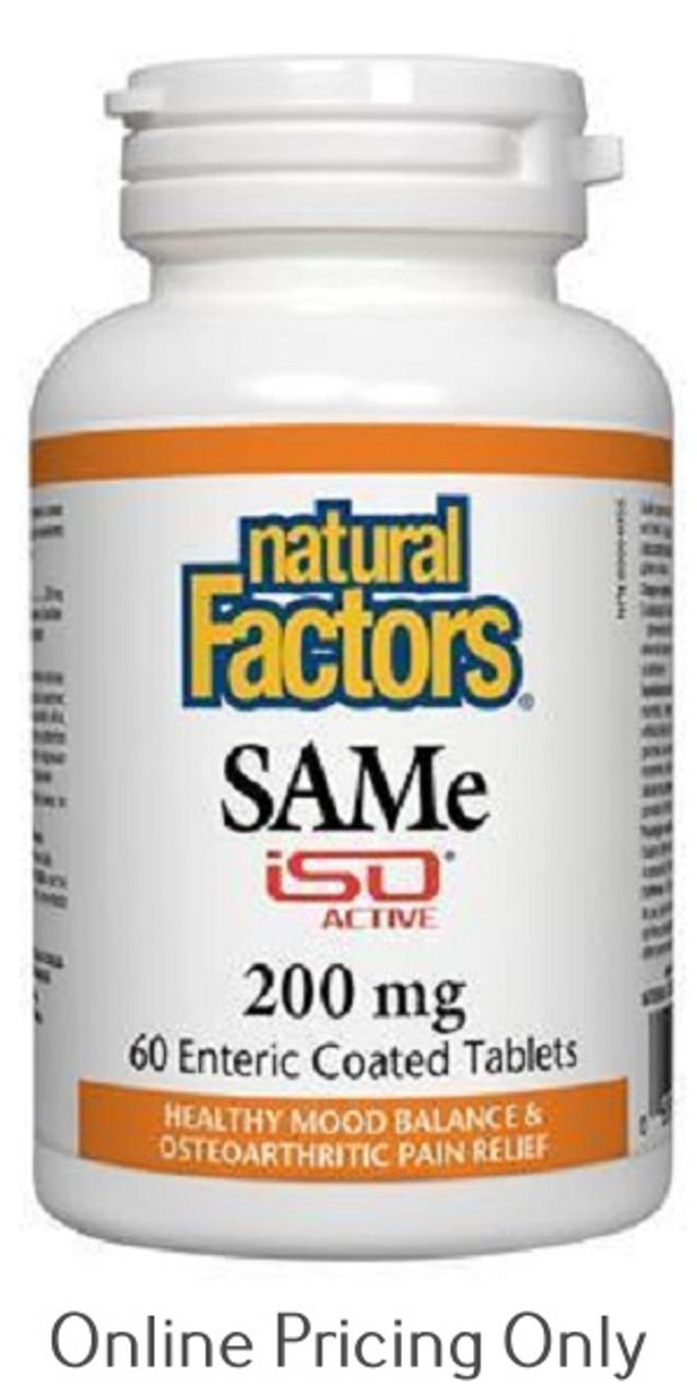 Natural Factors Same Iso Active 200mg 60tabs