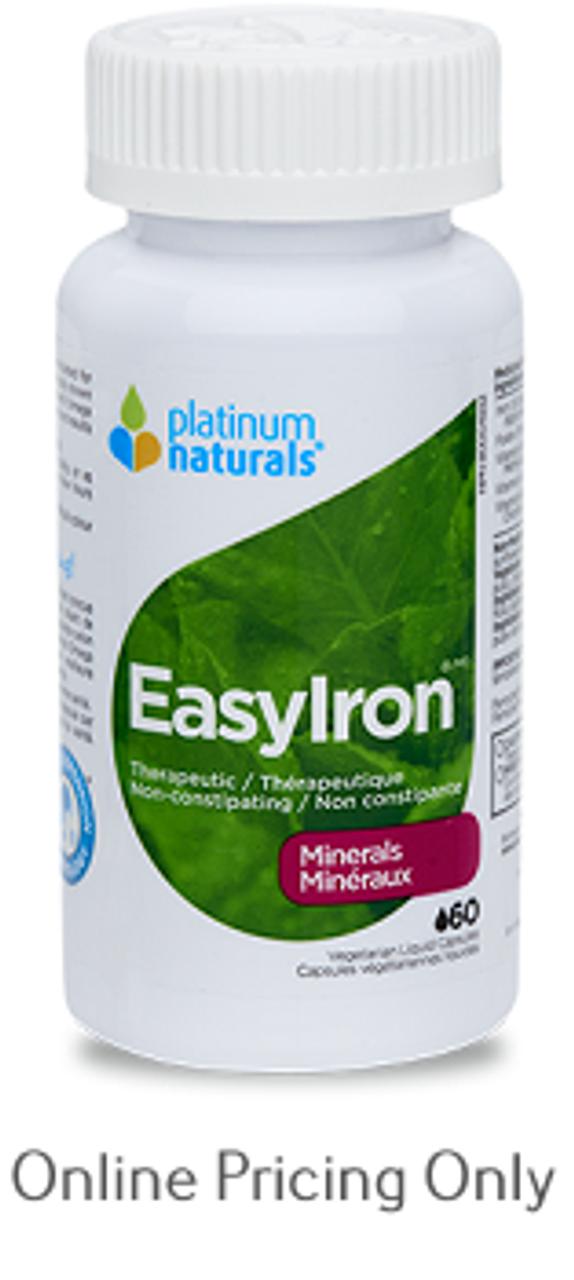 Platinum Naturals Easy Iron 60caps