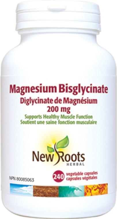 New Roots Magnesium Bisglycinate 200mg 240vaps